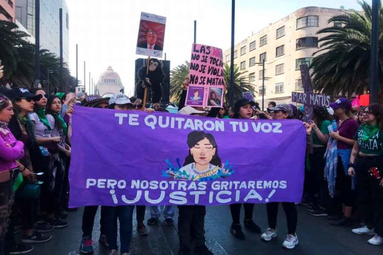 marcha 8 marzo 2020 no mas violencia