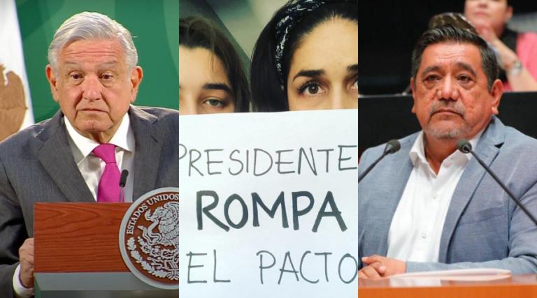 """AMLO dice que 'Rompe el Pacto' son """"expresiones importadas""""; defiende candidatura de Salgado (otra vez)"""