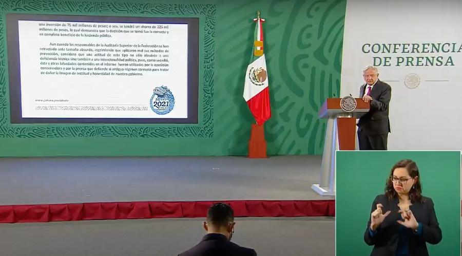 """AMLO pide investigar a la ASF por informe """"tendencioso y falso"""""""
