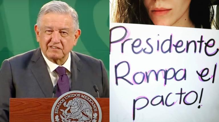 """""""Ya chole""""AMLO responde a mujeres sobre caso Félix Salgado"""