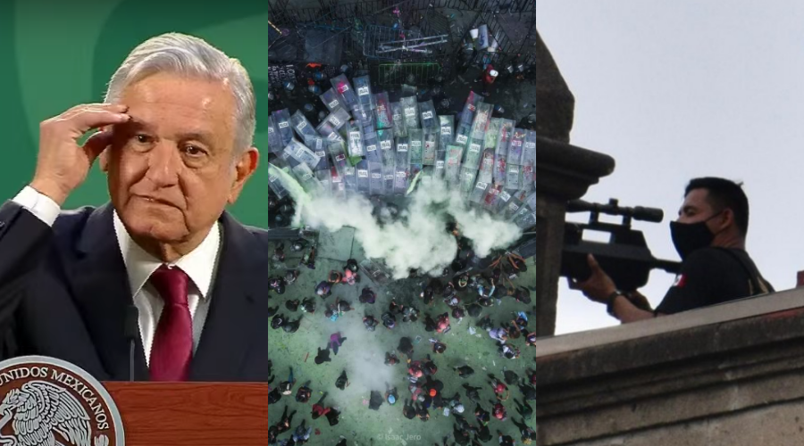 En marcha pudieron tirar una bomba a través de un dron