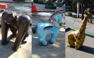 animales de concreto