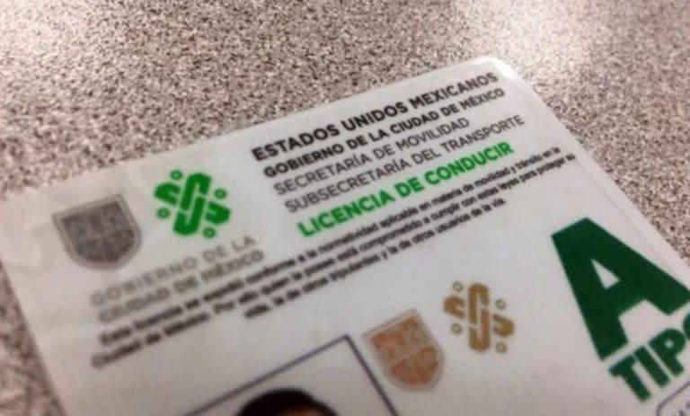 Licencia de conducir en el celular