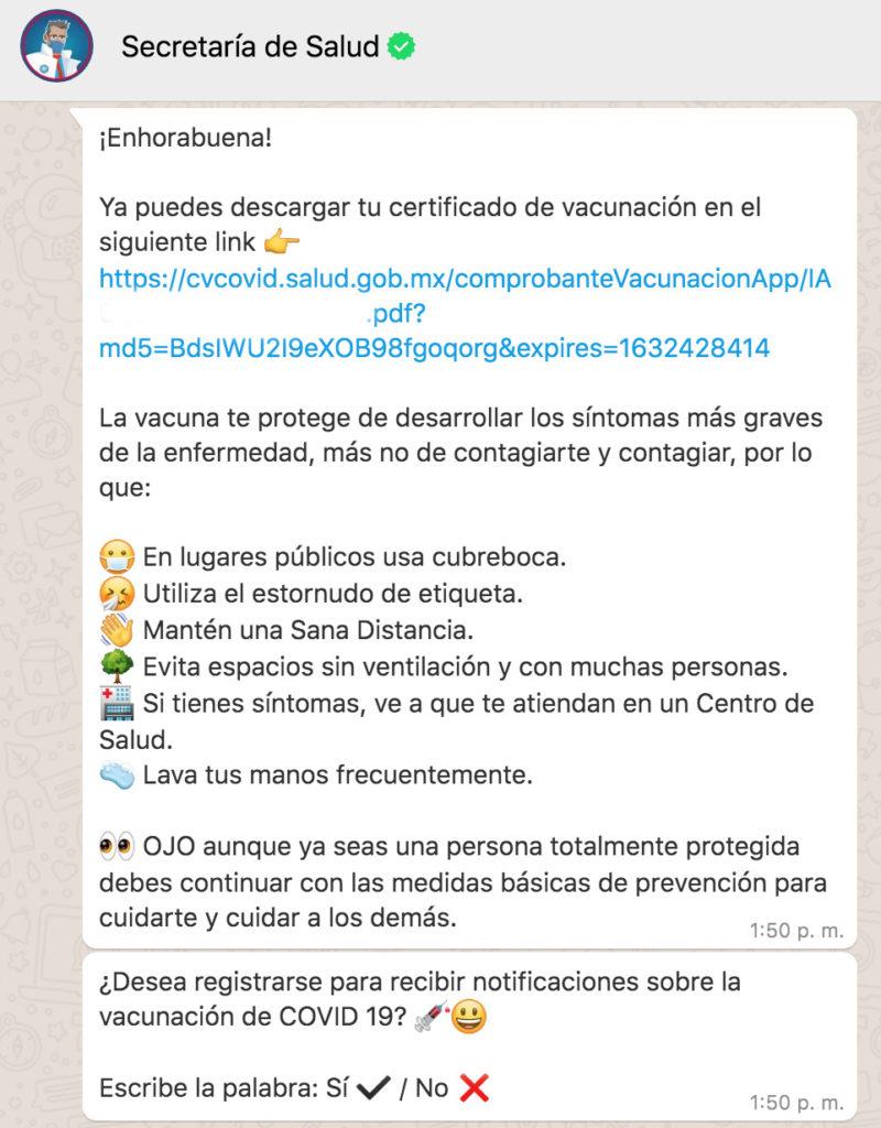certificado de vacunación covid