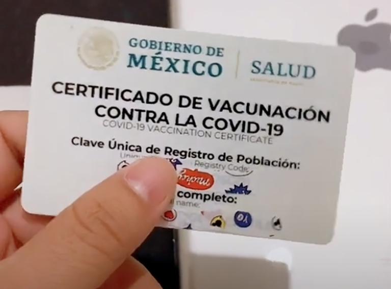 credenciales con el certificado de vacunación covid-29